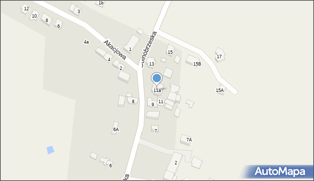 Miękinia, Dolnobrzeska, 11a, mapa Miękinia