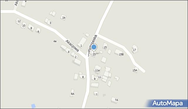 Miękinia, Dolnobrzeska, 13, mapa Miękinia