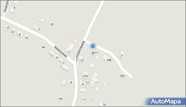 Miękinia, Dolnobrzeska, 15, mapa Miękinia