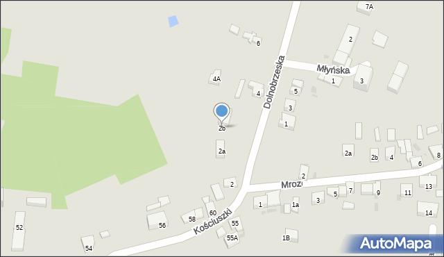 Miękinia, Dolnobrzeska, 2b, mapa Miękinia