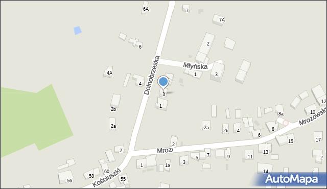 Miękinia, Dolnobrzeska, 3, mapa Miękinia