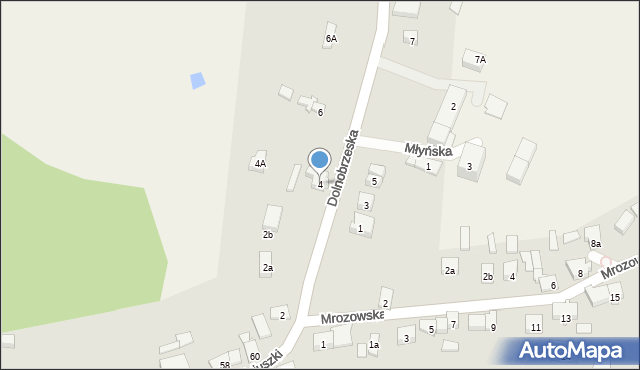 Miękinia, Dolnobrzeska, 4, mapa Miękinia