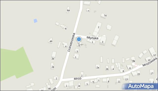 Miękinia, Dolnobrzeska, 5, mapa Miękinia