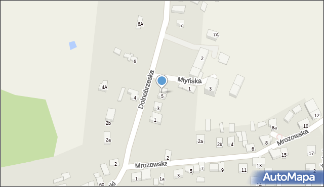 Miękinia, Dolnobrzeska, 5a, mapa Miękinia