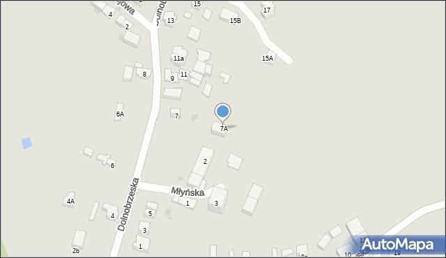 Miękinia, Dolnobrzeska, 7A, mapa Miękinia