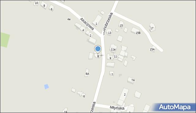 Miękinia, Dolnobrzeska, 8, mapa Miękinia