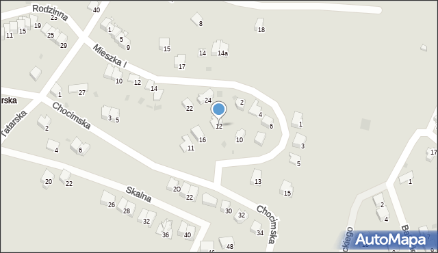 Przemyśl, Domowa, 12, mapa Przemyśla