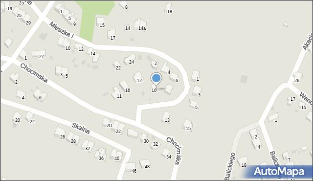 Przemyśl, Domowa, 18, mapa Przemyśla
