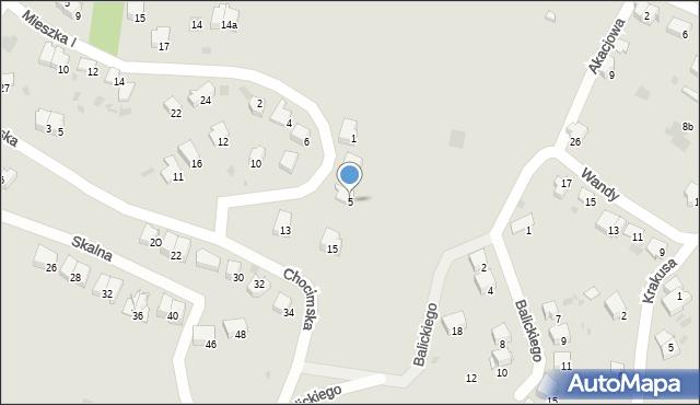 Przemyśl, Domowa, 5, mapa Przemyśla