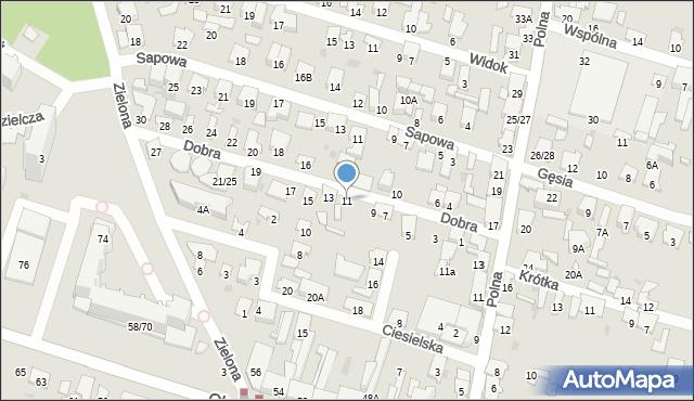 Radom, Dobra, 11, mapa Radomia