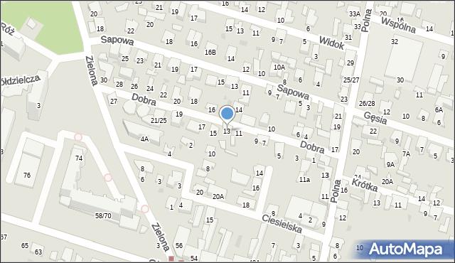 Radom, Dobra, 13, mapa Radomia