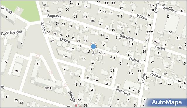 Radom, Dobra, 15, mapa Radomia