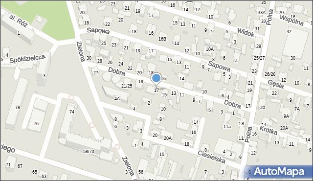 Radom, Dobra, 17, mapa Radomia