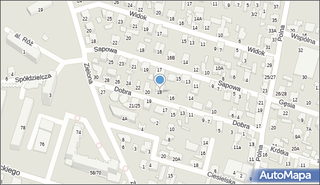 Radom, Dobra, 18, mapa Radomia
