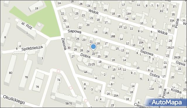 Radom, Dobra, 22, mapa Radomia