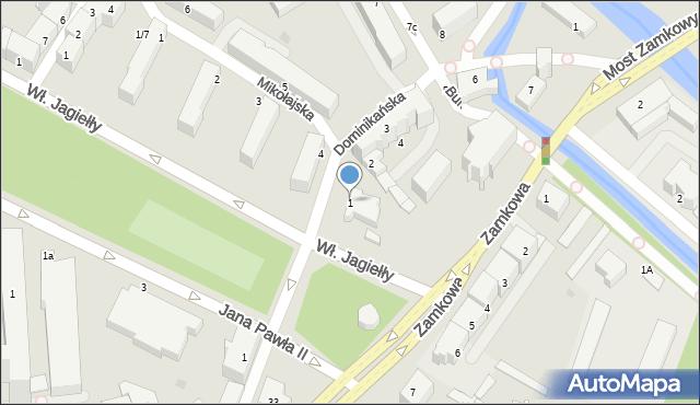 Słupsk, Dominikańska, 1, mapa Słupska