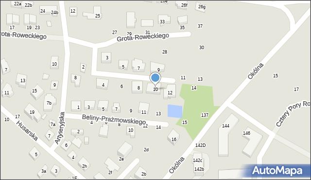 Toruń, Dobrzańskiego-Hubala Henryka, mjr., 10, mapa Torunia