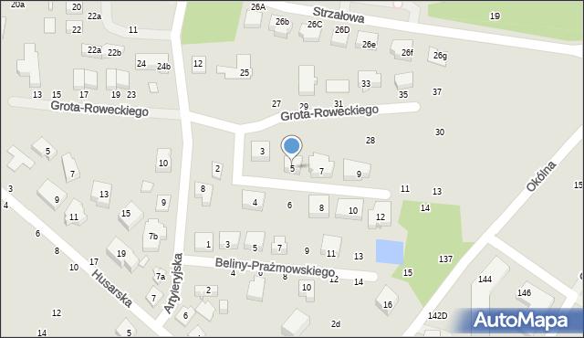 Toruń, Dobrzańskiego-Hubala Henryka, mjr., 5, mapa Torunia
