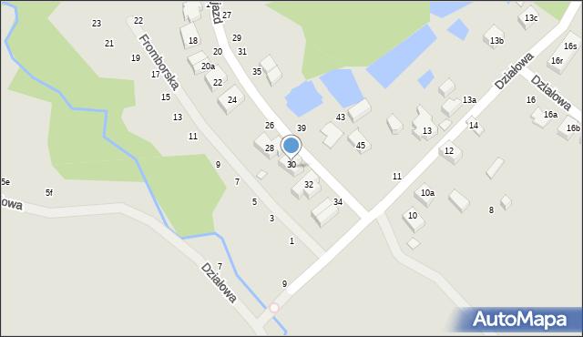 Toruń, Dojazd, 30, mapa Torunia