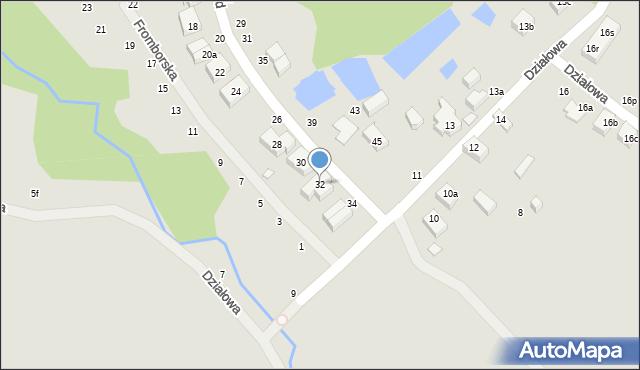 Toruń, Dojazd, 32, mapa Torunia