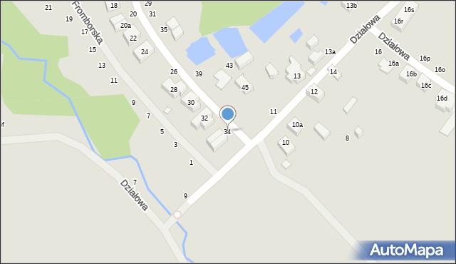 Toruń, Dojazd, 34, mapa Torunia