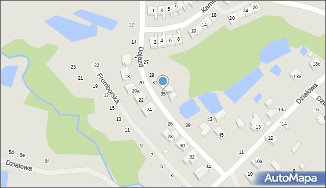 Toruń, Dojazd, 35, mapa Torunia