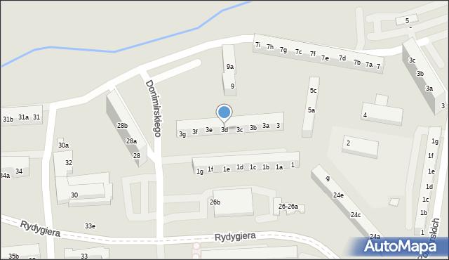 Toruń, Donimirskiego Teodora, 3d, mapa Torunia