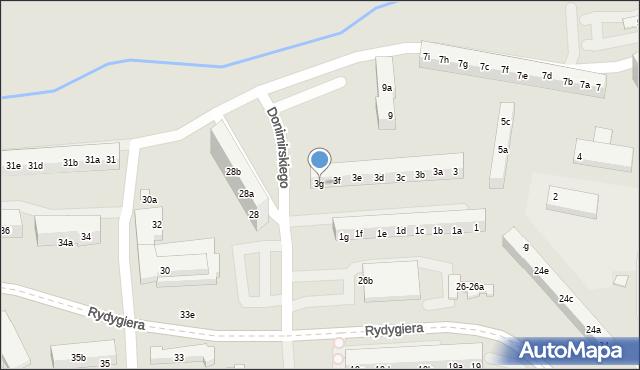 Toruń, Donimirskiego Teodora, 3g, mapa Torunia