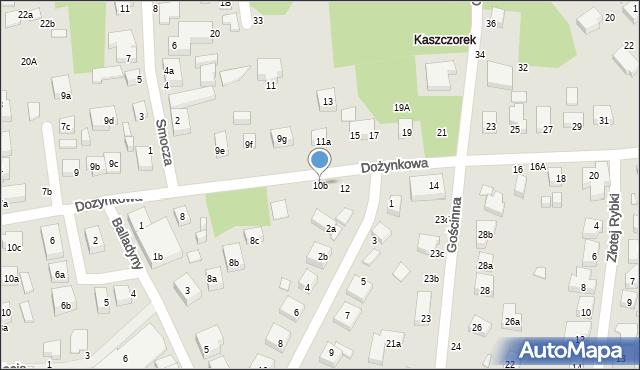 Toruń, Dożynkowa, 10b, mapa Torunia