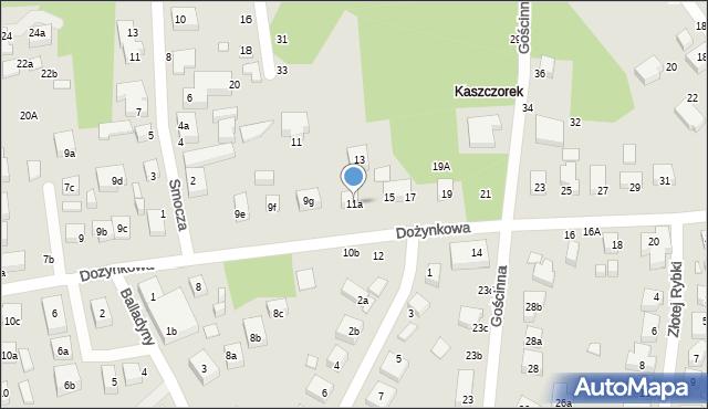 Toruń, Dożynkowa, 11a, mapa Torunia