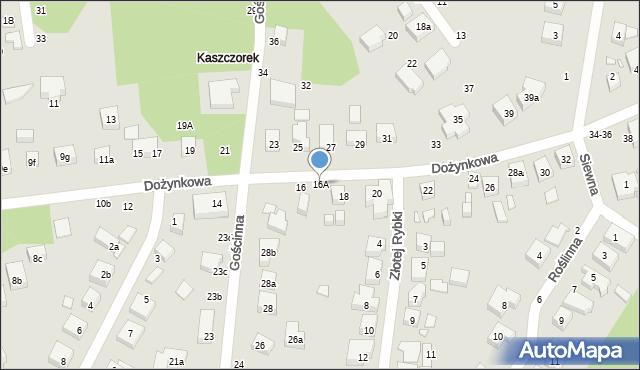 Toruń, Dożynkowa, 16A, mapa Torunia