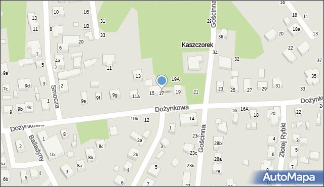 Toruń, Dożynkowa, 17, mapa Torunia