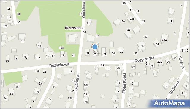Toruń, Dożynkowa, 25, mapa Torunia