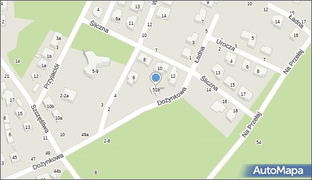 Toruń, Dożynkowa, 51b, mapa Torunia