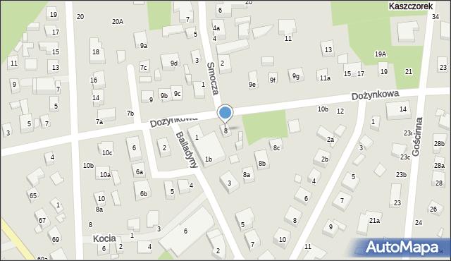 Toruń, Dożynkowa, 8, mapa Torunia