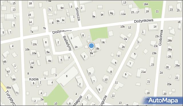 Toruń, Dożynkowa, 8a, mapa Torunia