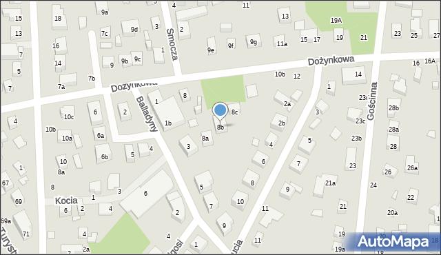 Toruń, Dożynkowa, 8b, mapa Torunia