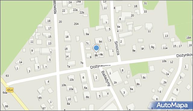Toruń, Dożynkowa, 9b, mapa Torunia