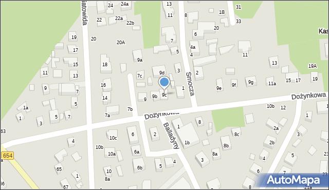 Toruń, Dożynkowa, 9c, mapa Torunia