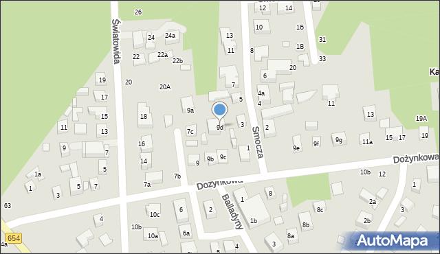 Toruń, Dożynkowa, 9d, mapa Torunia