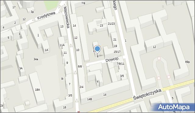 Warszawa, Dowcip, 4, mapa Warszawy