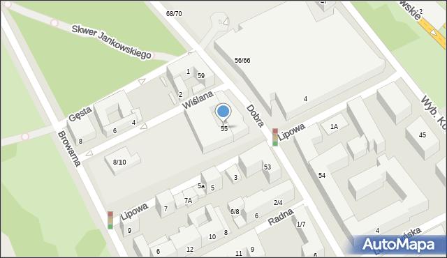 Warszawa, Dobra, 55, mapa Warszawy