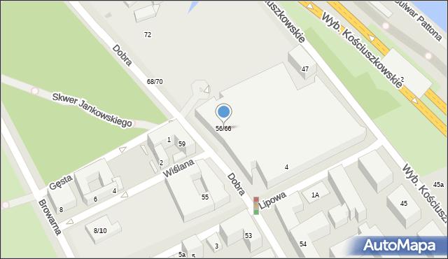 Warszawa, Dobra, 56/66, mapa Warszawy