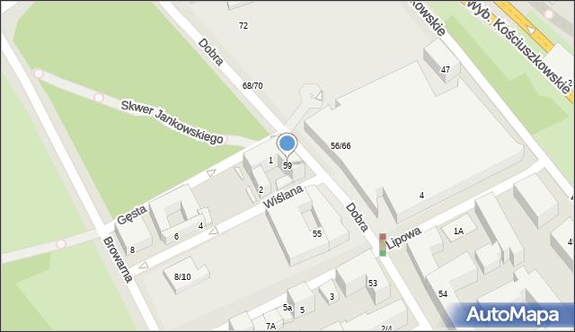 Warszawa, Dobra, 59, mapa Warszawy
