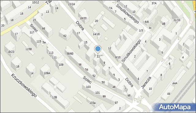 Warszawa, Dobra, 11, mapa Warszawy