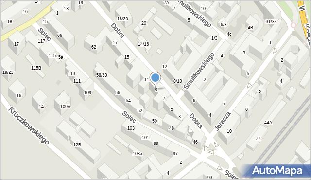 Warszawa, Dobra, 9, mapa Warszawy