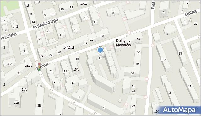 Warszawa, Dolna, 11, mapa Warszawy