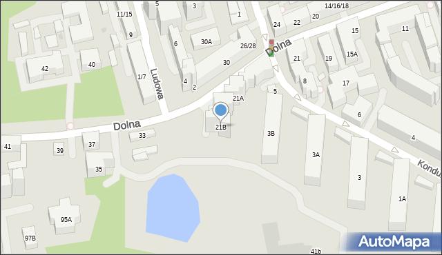 Warszawa, Dolna, 21B, mapa Warszawy