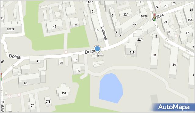 Warszawa, Dolna, 33, mapa Warszawy