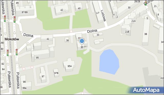 Warszawa, Dolna, 35, mapa Warszawy